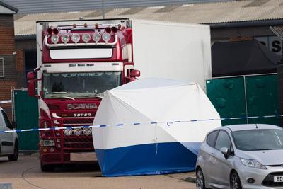 El hallazgo se registró en una zona industrial en Grays, condado de Essex.