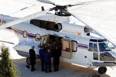 Sus restos fueron trasladados en helicóptero.