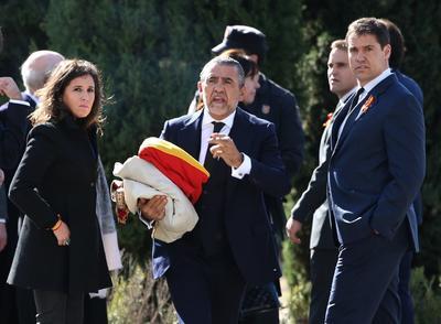 Familiares del dictador estuvieron presentes en su exhumación.