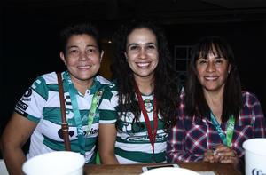 25102019 Patty Alba, Maricela Macías y Claudia Vázquez.