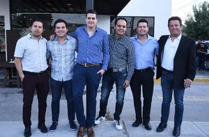 25102019 René Rivera, Charly Valdés, René Chávez, Arturo Rivera, Alfredo García y Ricardo Carlos.