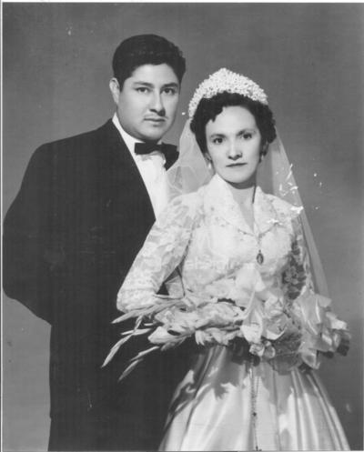 Florentino Hernández González y Socorro Alba, 1955.