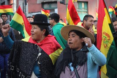 Siguen las protestas en Bolivia.