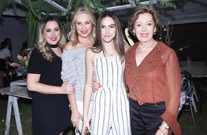 Marla Querejeta, Manin Lozano, Marla Lozano y Marcia Lozano