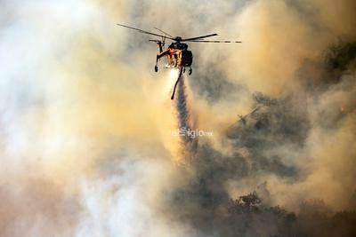 Los bomberos han logrado ganar terreno a las llamas y las han contenido en un 15 %, aunque las autoridades se preparan para el regreso de fuertes vientos al área con velocidades que superan los 80 kilómetros por hora.