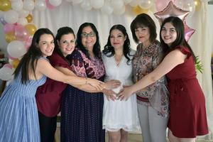 30102019 PRONTO SERá MAMá.  Mónica García de Alba en compañía de María, Iveth, Norma, Graciela y Melissa.