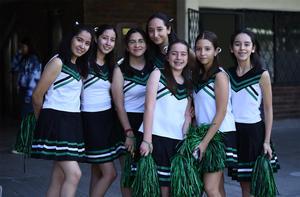 01112019 DURANTE EVENTO DEPORTIVO.  Mariana, Andrea, Salma, Karen, Anilú, Sofía y Marijose.