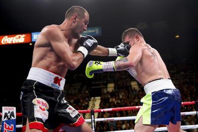 El boxeador dio al país un título más.