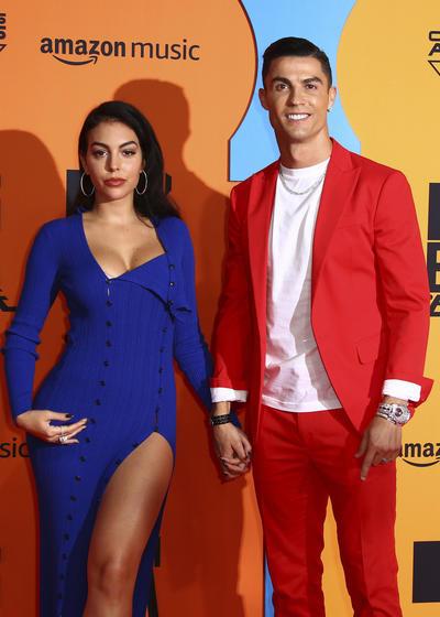 Cristiano Ronaldo y Georgina Rodríguez. Spain European MTV Awards 2019 Arrivals