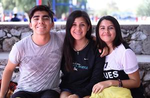 06112019 Esteban Carmona, Anelise Reyes y Angélica Deras.