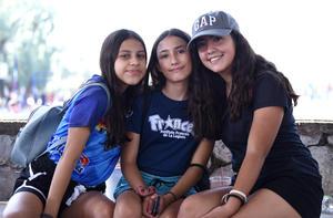 06112019 Andrea Betancourt, Camila Armendáriz y Alejandra Esparza.