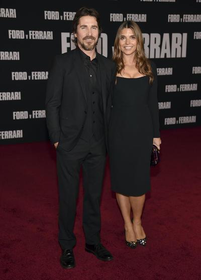 Christian Bale y Sibi Blazic LA Premiere of Ford v Ferrari