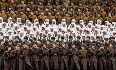 Durante la época soviética, cada 7 de noviembre se celebraban desfiles militares para conmemorar el aniversario de la Revolución Bolchevique de 1917.