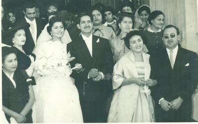 Roberto Alonso Márquez y Socorro Huitrado Bustamante se casaron el 10 de noviembre de 1956 en la Iglesia del Perpetuo Socorro, se encuentran cumpliendo 63 años de matrimonio.