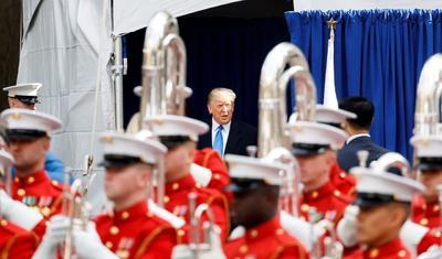 Trump inauguró el Homenaje por el Día de los Veteranos.