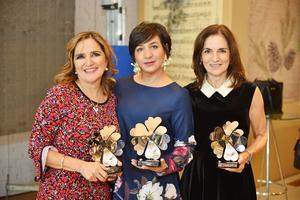 Cecilia, Geovanna y María Luisa