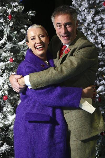 Emma Thompson y husband Greg Wise.