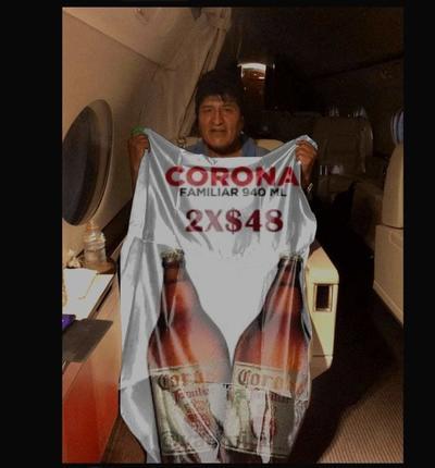 Evo Morales llega a México y sus memes invaden las redes sociales