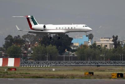 Arribó en un avión de la Fuerza Aérea Mexicana.