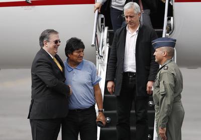 Fue recibido por el canciller Marcelo Ebrard.