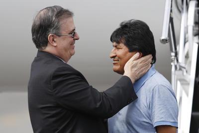Ebrard Casaubón le dio la bienvenida y le transmitió los saludos del presidente Andrés Manuel López Obrador.