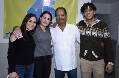 Marisofi Lazaga, Renata Vázquez, César Olvera y Mario Onofre.