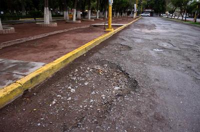 Olvidadas. Ni espacios aledaños a espacios públicos como el Parque Victoria son ajenos a estas situación, en la que los baches no permiten circular de buena forma a los automovilistas.