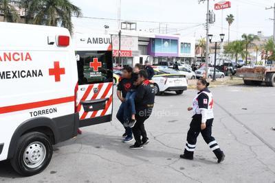 Posteriormente fue atendido por la Cruz Roja