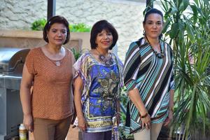 17112019 REUNIÓN MENSUAL.  Cristina Villarreal, Josefina Campos y Elizabeth Bringas.