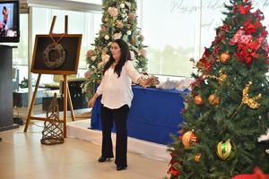 19112019 La expositora compartió sus tips de decoración navideña.