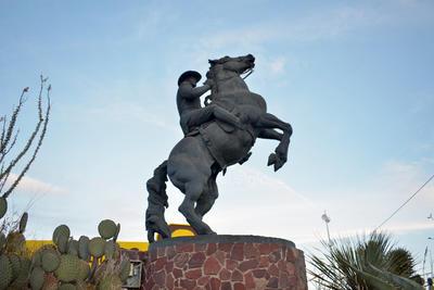 El Artillero. Raúl Madero, artillero de las Fuerzas Armadas Revolucionarias 'División del Norte' cuenta con sus propias esculturas, esta se encuentra ubicada en el cruce de la Carretera Torreón-Matamoros y la calzada México, al oriente de la ciudad de Torreón.