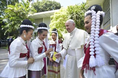 Tailandia es un país de 69 millones de habitantes predominantemente budista, y solo cuenta con una pequeña comunidad católica.