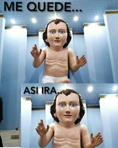 Niño Jesús gigante desata memes en redes sociales