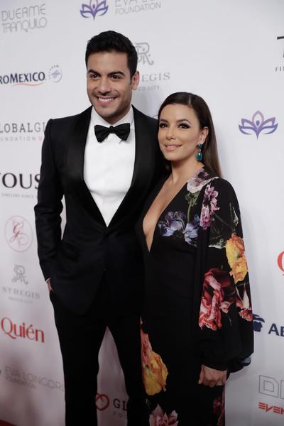 Carlos Rivera y Eva Longoria.