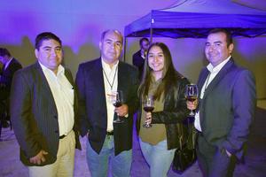 21112019 RECIENTE EVENTO.  Francisco, Raúl, Laura y Alejandro.