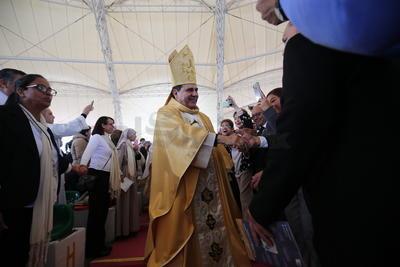 """""""Somos constructores de comunión y de paz; nunca actuaremos para restar o para dividir"""", manifestó el entrevistado.  Refirió que la Iglesia Católica debe tener una voz fuerte, puesto que es la voz de Dios, es la voz del evangelio."""