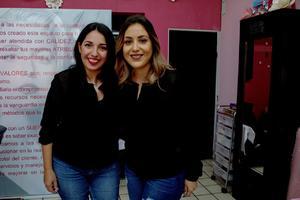 22112019 FESTEJAN ANIVERSARIO DE SALóN.  Karla Lerdo de Tejada y Karla Fernández.