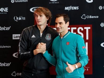 Roger Federer y Alexander Zverev llegan a México