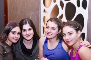 Isabella, Andrea, Danna y Valeria.