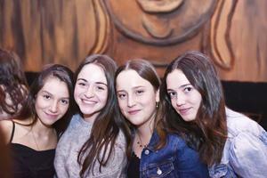 Mariana, Ángela, Fer y Ana Paula.