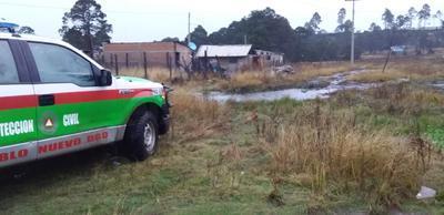 En la cabecera municipal de Topia, todos los habitantes se vieron afectados por algunas horas, puesto que aproximadamente para las 15:00 horas ya había regresado.
