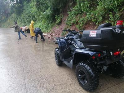 Personal de la Dirección Municipal de Protección Civil de Pueblo Nuevo ha estado realizando recorridos de vigilancia cada dos horas en las zonas más vulnerables.