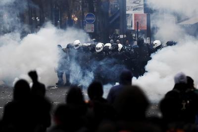 Las protestas en Francia se vieron manchadas por la violencia.