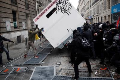 Se constituyó un grupo de lo que se conoce como 'black bloc', formado por al menos 500 radicales.