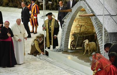 También se inauguró el tradicional Portal de Belén.