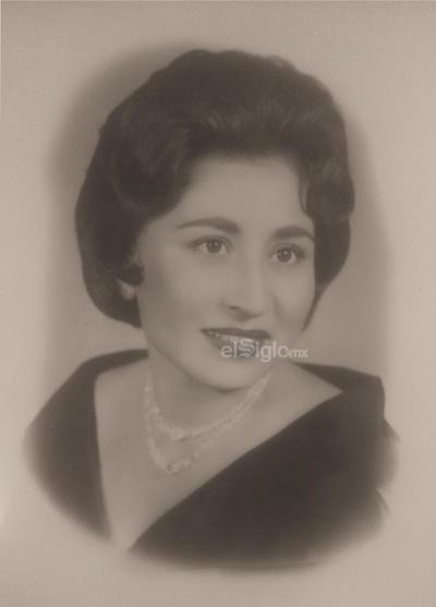 Sra. María del Socorro Aguilar P. foto del 26 de noviembre de 1962.