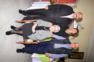 01122019 EN FAMILIA.  Olga Martínez con sus hijos, Jorge, Mayela y Jesús Marín Martínez.