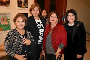 03122019 EN UNA CONFERENCIA.  María Teresa, Bertha, Ángeles y Lupita.