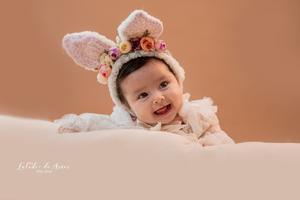 01122019 La pequeña Ivanna Barraza Pérez a sus 3 meses de vida en una sesión de estudio.