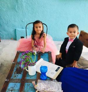 01122019 MUY GUAPOS.  Mariangel Álvarez Cabello y Gael Álvarez Ramos.